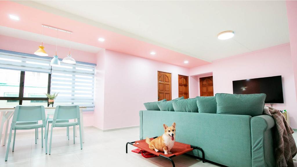 Modern, HDB, Living Room, Sembawang Drive, Interior Designer, Ethan Interiors