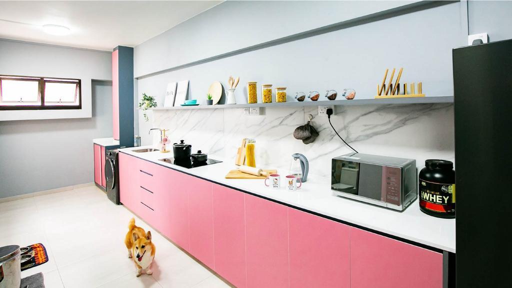 Modern, HDB, Kitchen, Sembawang Drive, Interior Designer, Ethan Interiors