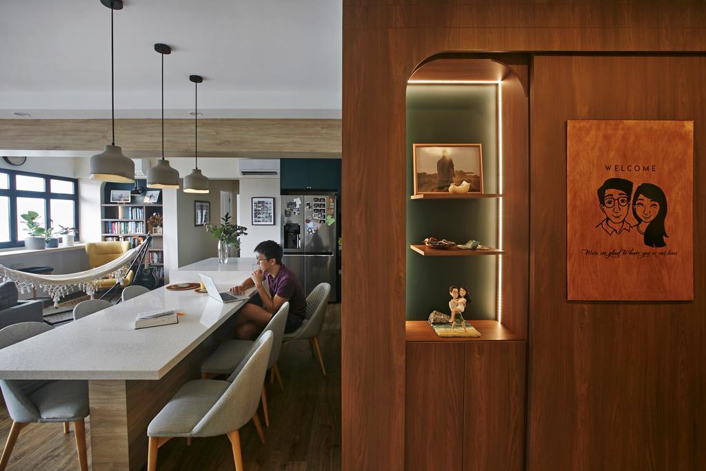 Modern, HDB, Dining Room, Ang Mo Kio, Interior Designer, Fuse Concept, Contemporary