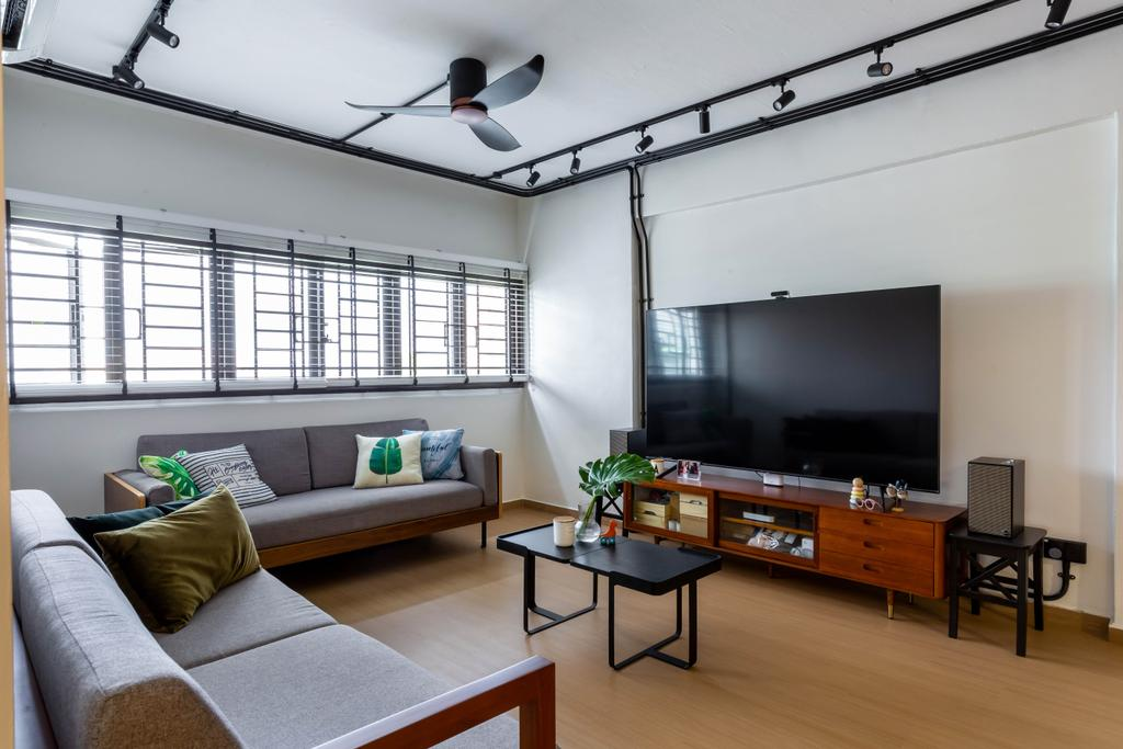 Contemporary, HDB, Living Room, Marine Terrace, Interior Designer, The Design Practice