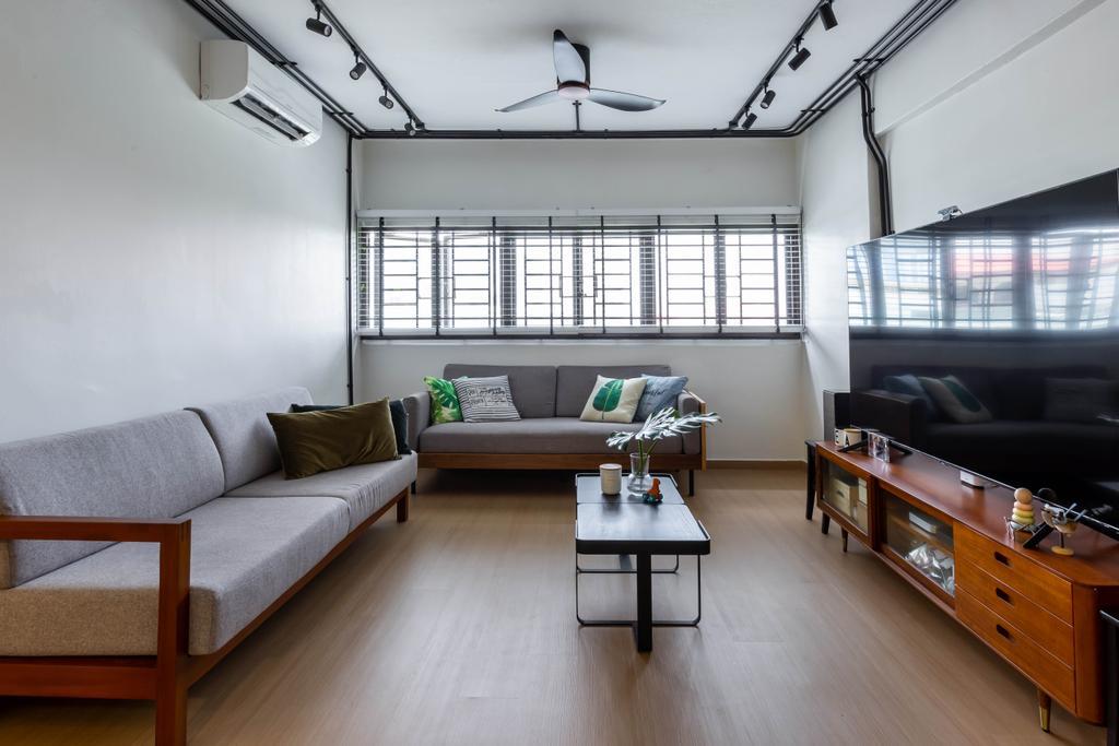 Contemporary, HDB, Living Room, Marine Terrace, Interior Designer, The Design Practice