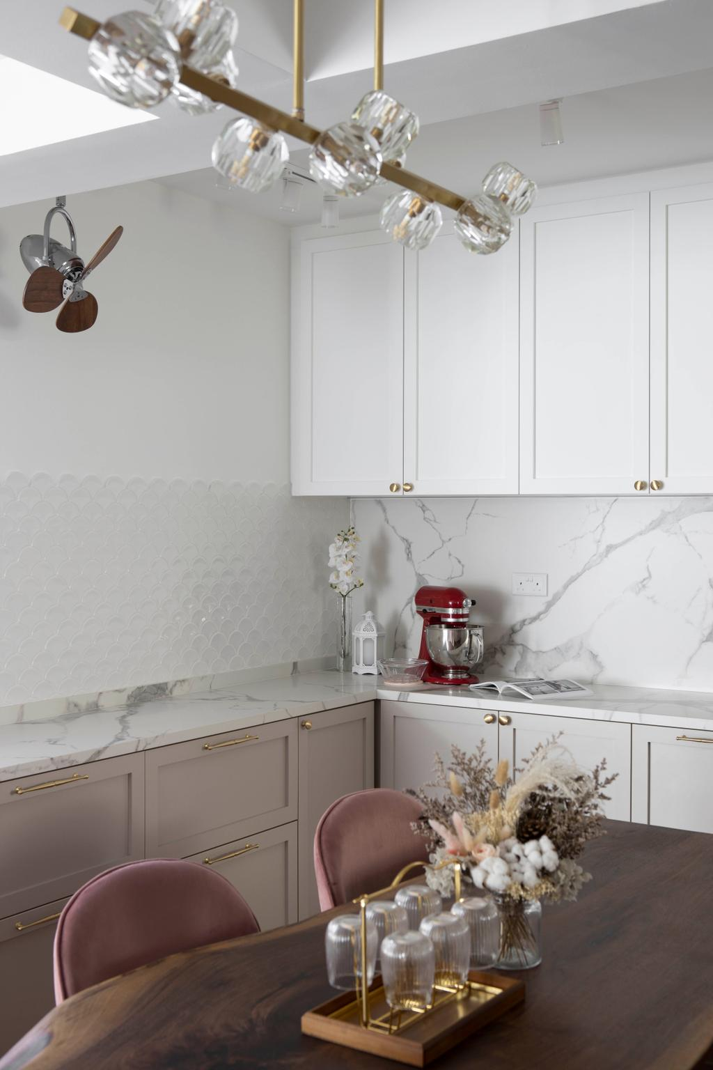 Modern, HDB, Kitchen, Tampines North Drive 1, Interior Designer, Fifth Avenue Interior, Scandinavian