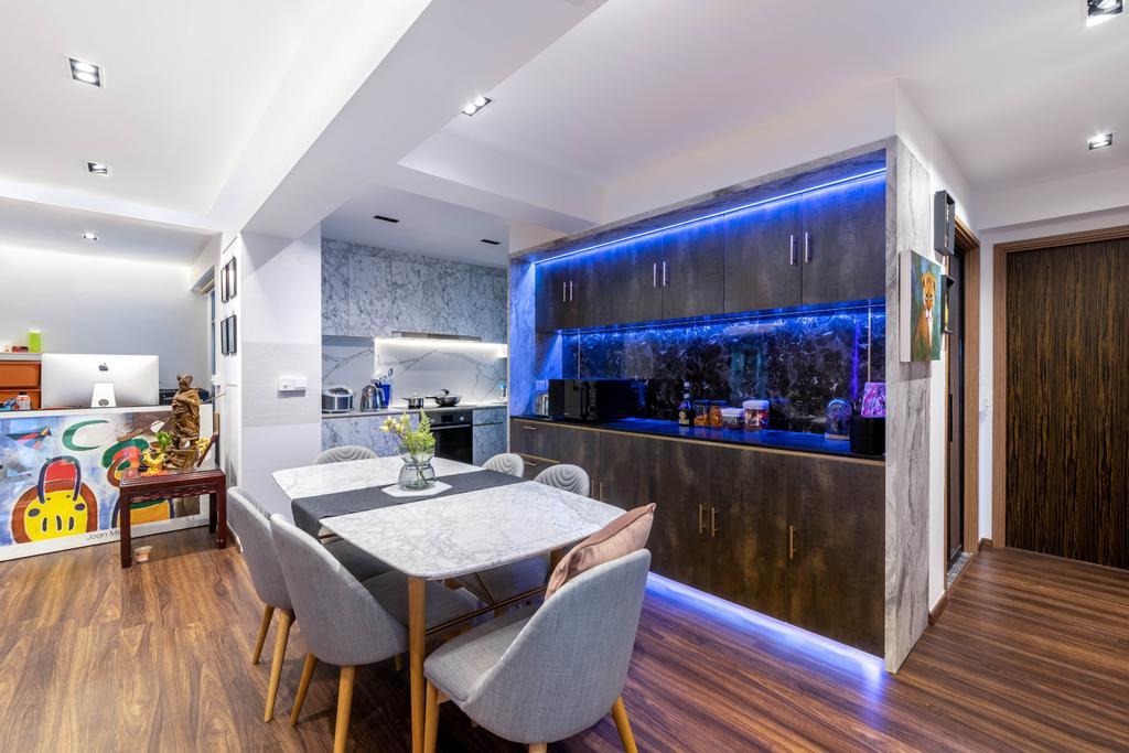 Modern, HDB, Dining Room, Northshore Drive, Interior Designer, Livspace, Contemporary