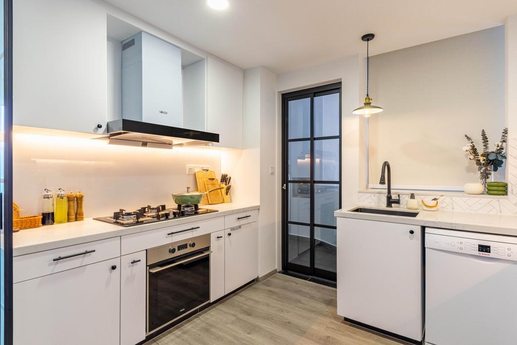 Modern, Condo, Kitchen, Kerrisdale, Interior Designer, Livspace, Scandinavian