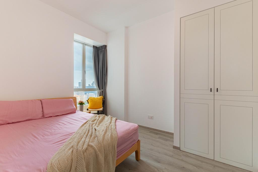 Modern, Condo, Bedroom, Kerrisdale, Interior Designer, Livspace, Scandinavian