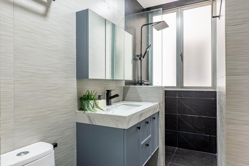 Modern, Condo, Bathroom, Kerrisdale, Interior Designer, Livspace, Scandinavian