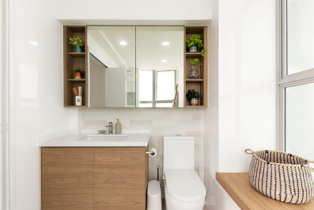 Modern, HDB, Bathroom, Bishan Street 24, Interior Designer, Livspace, Contemporary