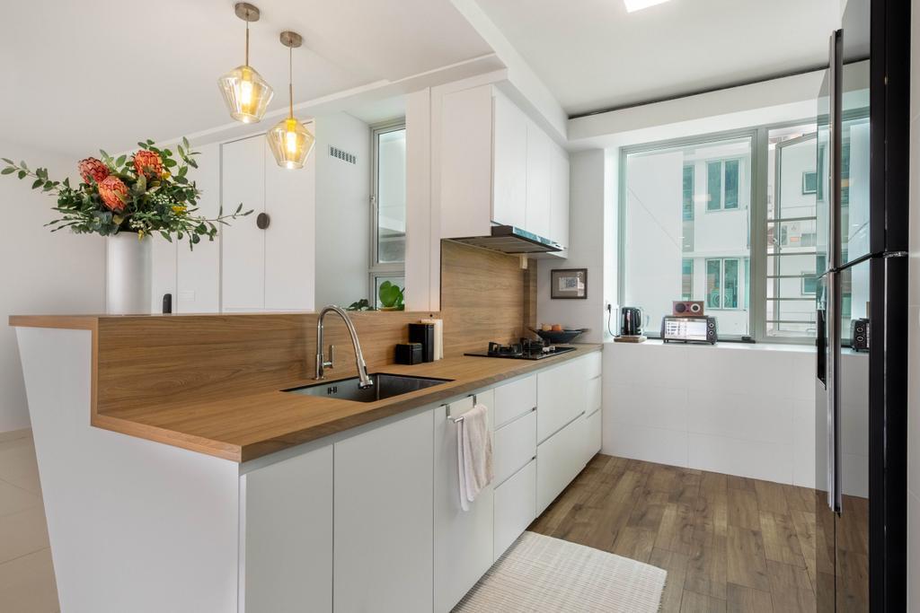 Modern, HDB, Kitchen, Bishan Street 24, Interior Designer, Livspace, Contemporary