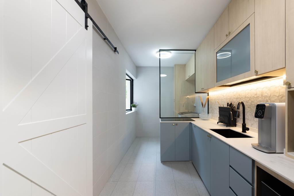 Contemporary, HDB, Kitchen, Jalan Membina, Interior Designer, Livspace