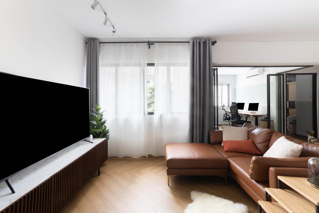 Contemporary, HDB, Living Room, Jalan Membina, Interior Designer, Livspace
