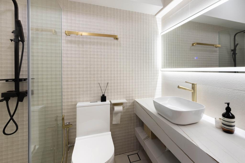 Contemporary, HDB, Bathroom, Jalan Membina, Interior Designer, Livspace