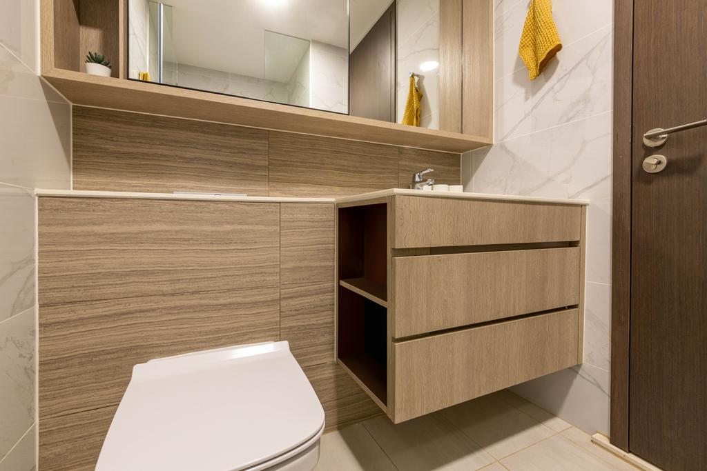 Modern, Condo, Bathroom, Forest Woods, Interior Designer, Livspace