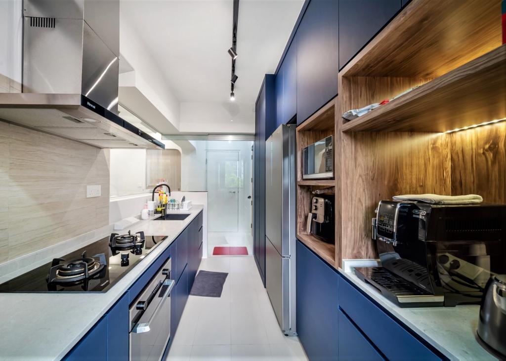 Contemporary, HDB, Kitchen, Bidadari Park Drive, Interior Designer, oddcreative