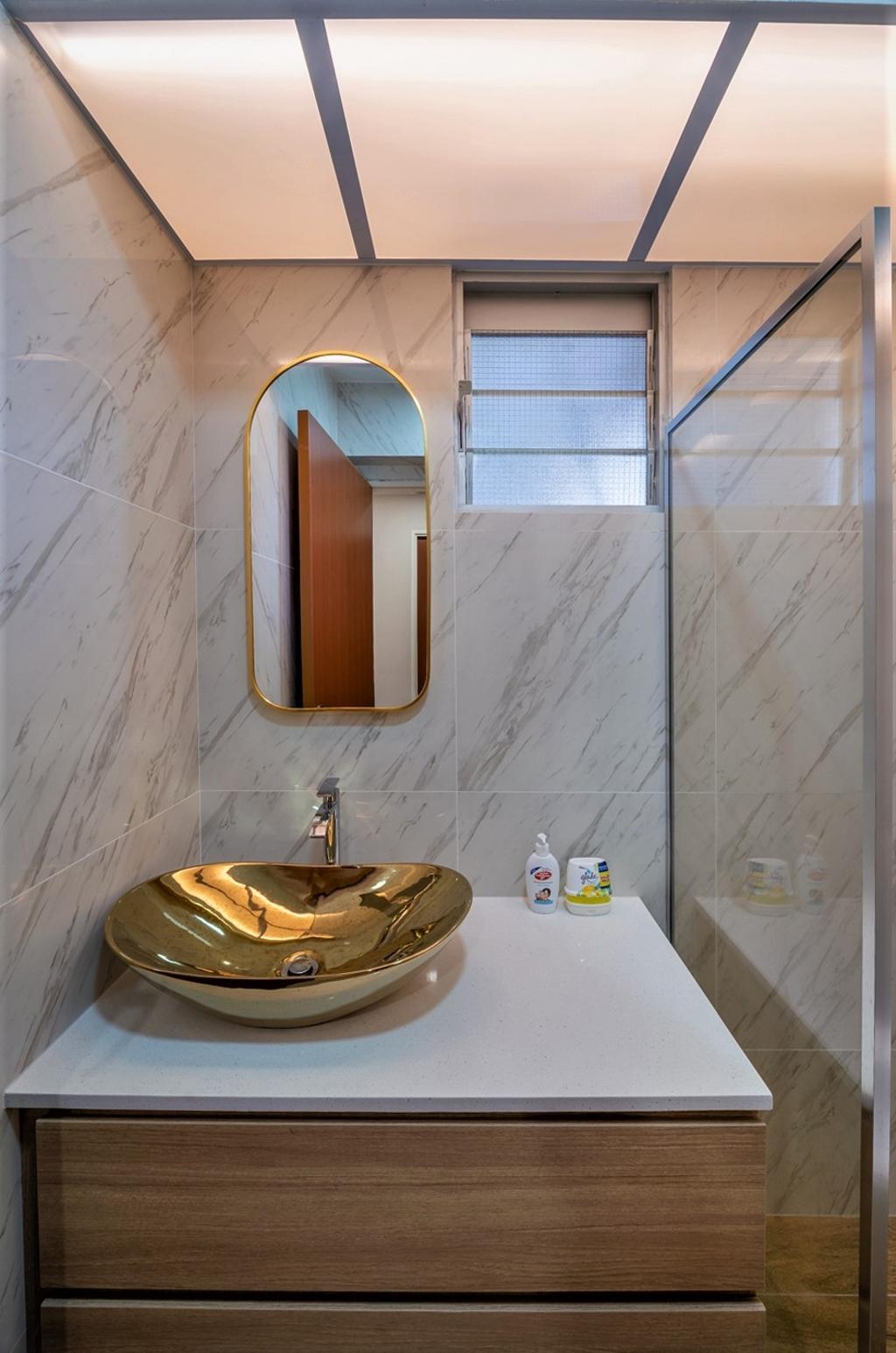Contemporary, HDB, Bathroom, Pasir Ris Street 51, Interior Designer, oddcreative