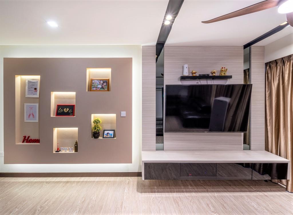 Modern, HDB, Living Room, Yishun Street 51, Interior Designer, oddcreative