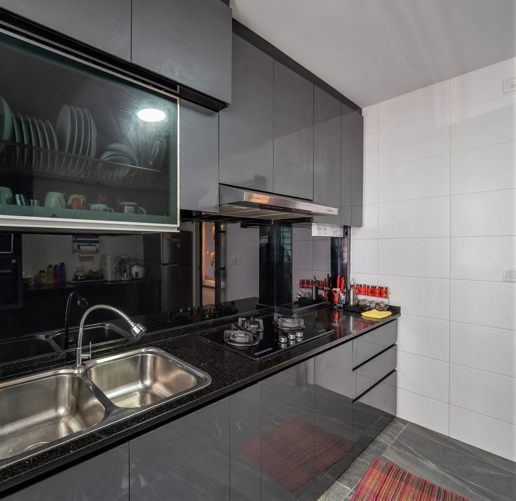 Modern, HDB, Kitchen, Yishun Street 51, Interior Designer, oddcreative