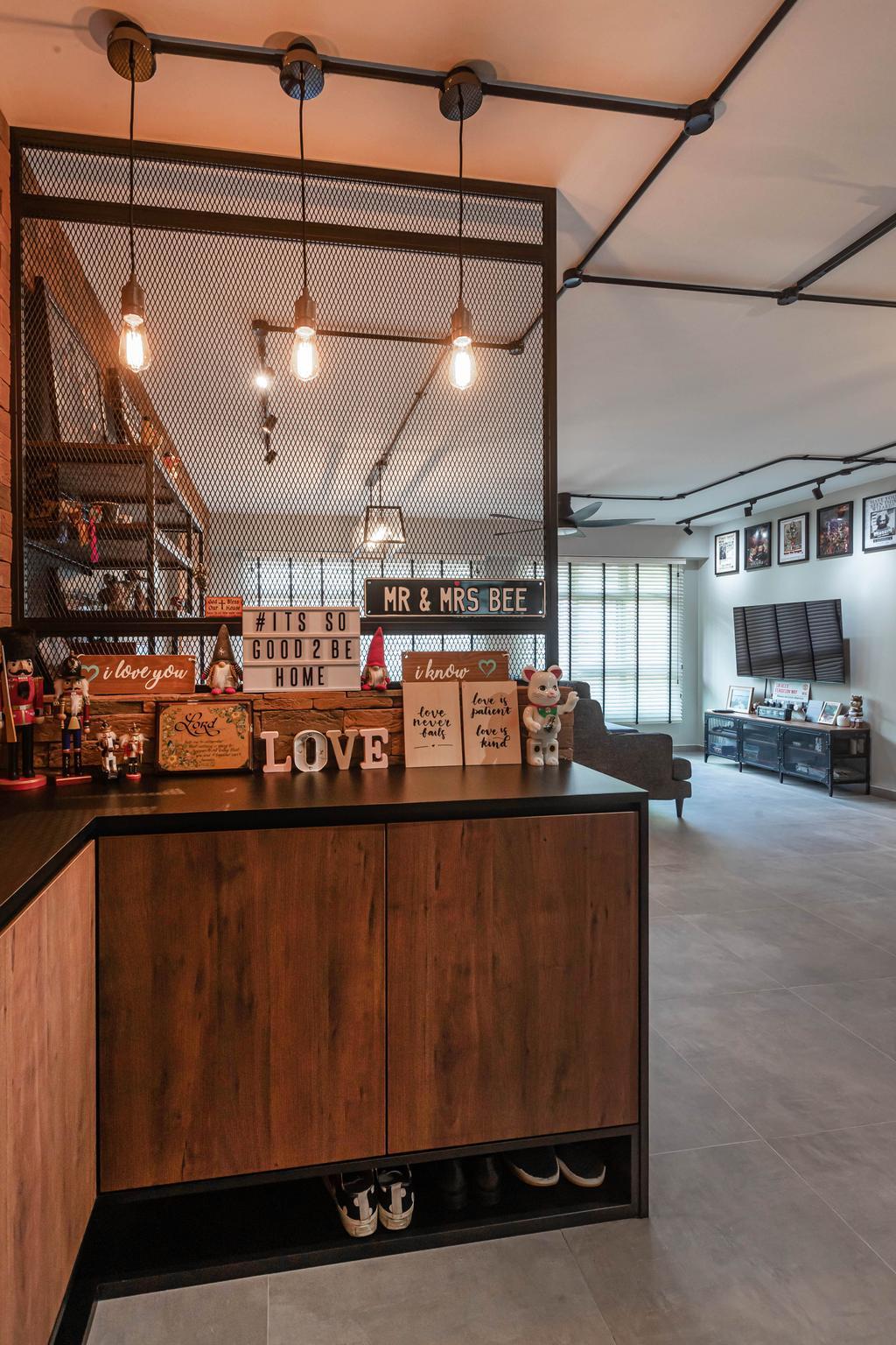 Industrial, HDB, Living Room, Sumang Link, Interior Designer, Swiss Interior Design