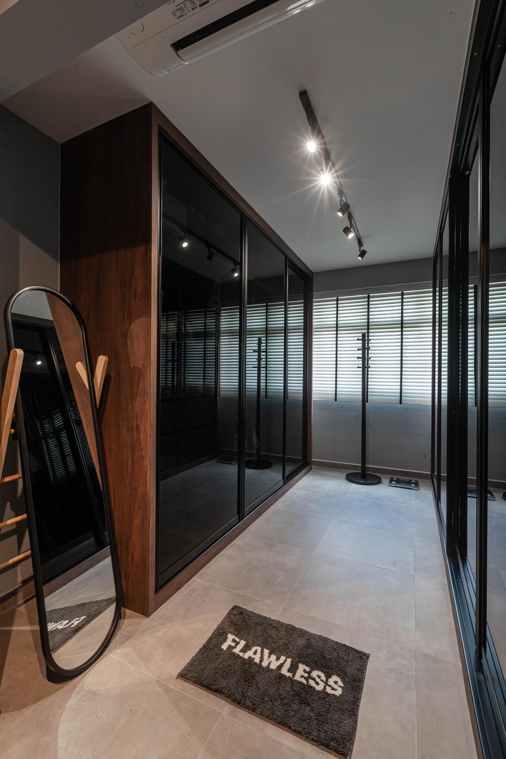 Industrial, HDB, Bedroom, Sumang Link, Interior Designer, Swiss Interior Design