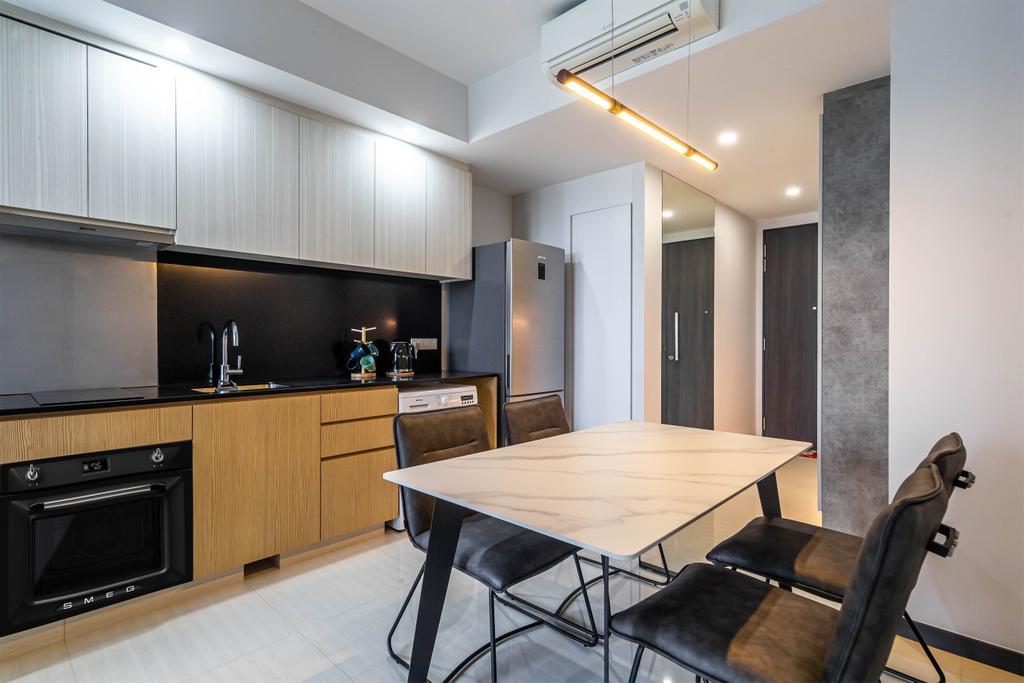 Contemporary, Condo, Kitchen, Gem Residences, Interior Designer, Swiss Interior Design