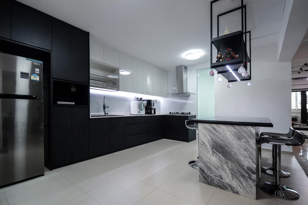 Contemporary, HDB, Kitchen, Bedok South Avenue 1, Interior Designer, The Roomakers