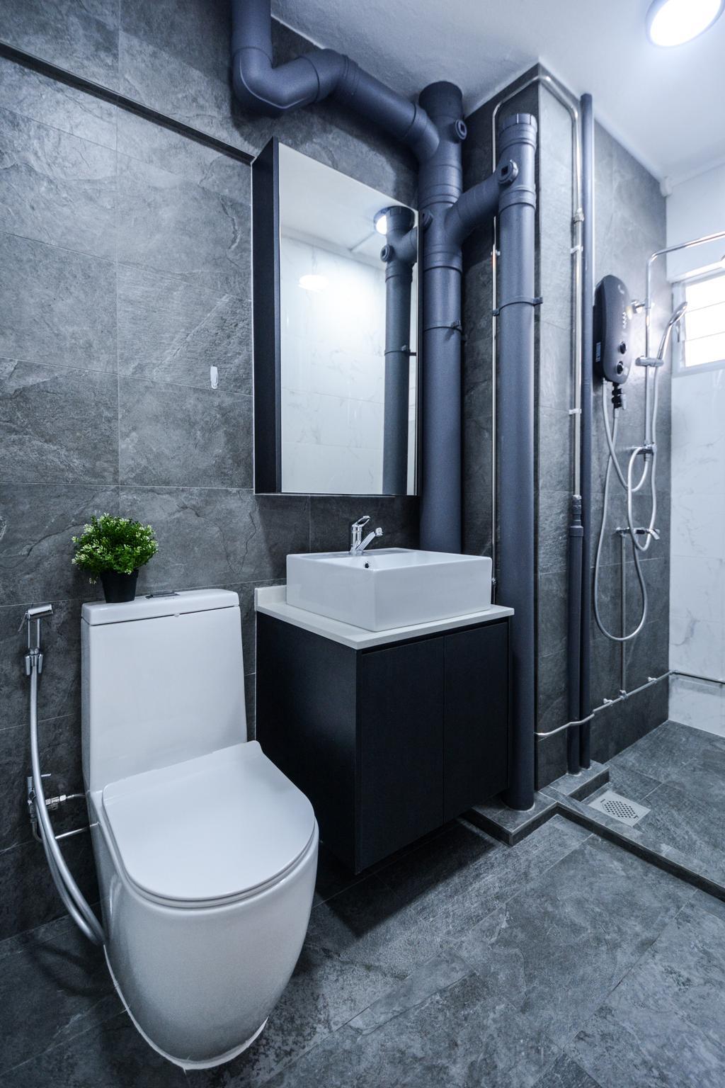 Contemporary, HDB, Bathroom, Bedok South Avenue 3, Interior Designer, The Roomakers