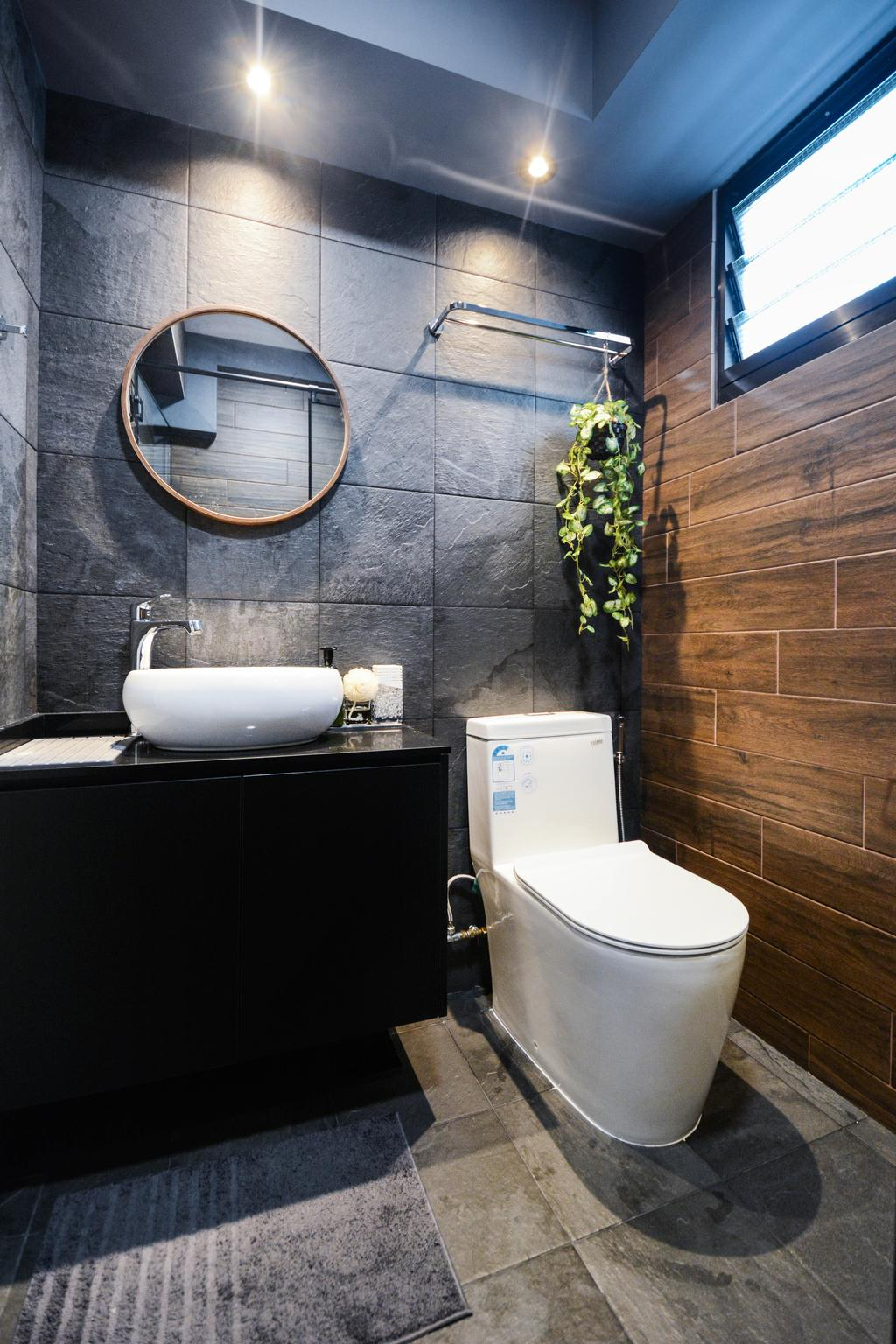 Modern, HDB, Bathroom, Tampines North Drive 1, Interior Designer, The Roomakers, Scandinavian