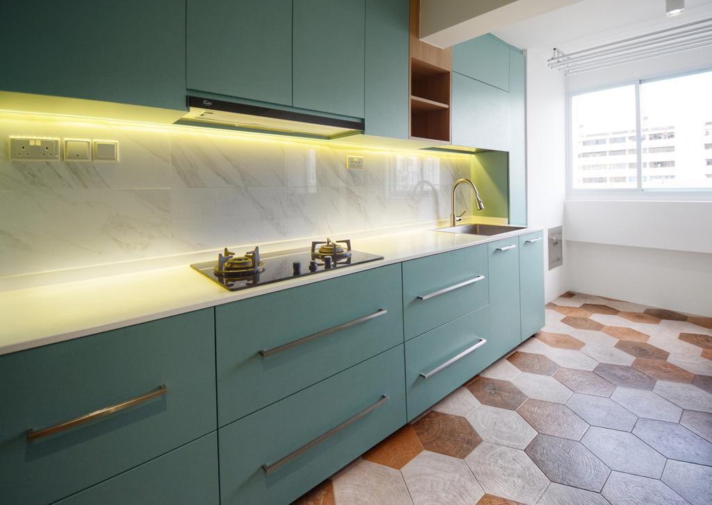Scandinavian, HDB, Kitchen, Lorong 7 Toa Payoh, Interior Designer, The Roomakers, Contemporary