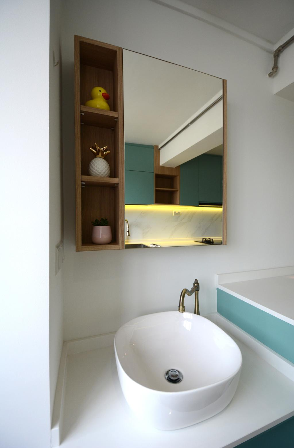 Scandinavian, HDB, Bathroom, Lorong 7 Toa Payoh, Interior Designer, The Roomakers, Contemporary