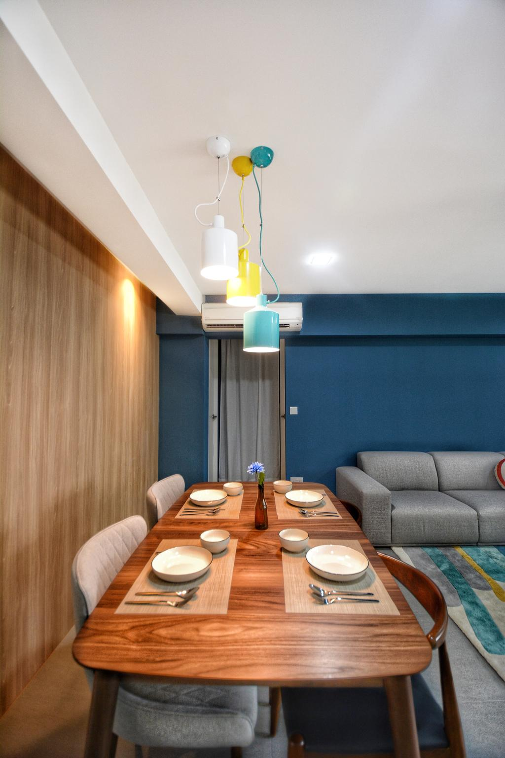 Scandinavian, HDB, Dining Room, Lorong 7 Toa Payoh, Interior Designer, The Roomakers, Contemporary