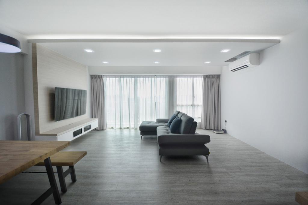 Modern, HDB, Living Room, Bukit Batok, Interior Designer, The Roomakers, Scandinavian