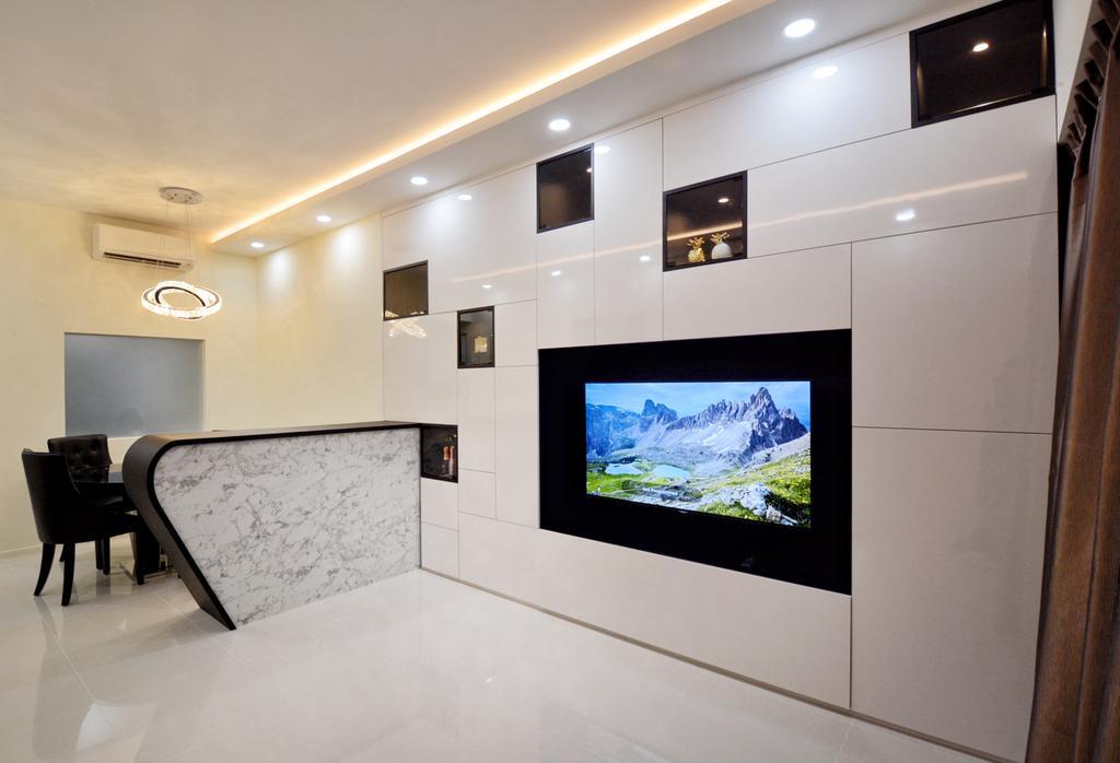 Modern, Condo, Living Room, Upper Thomson, Interior Designer, The Roomakers
