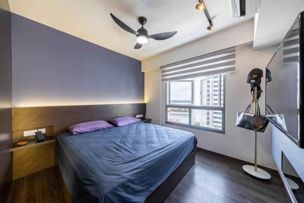 Contemporary, HDB, Bedroom, Northshore Drive, Interior Designer, Design 4 Space