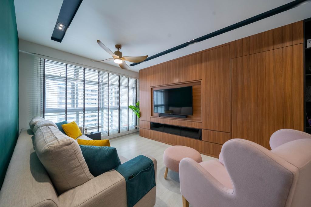 Contemporary, HDB, Living Room, Northshore Drive, Interior Designer, Design 4 Space