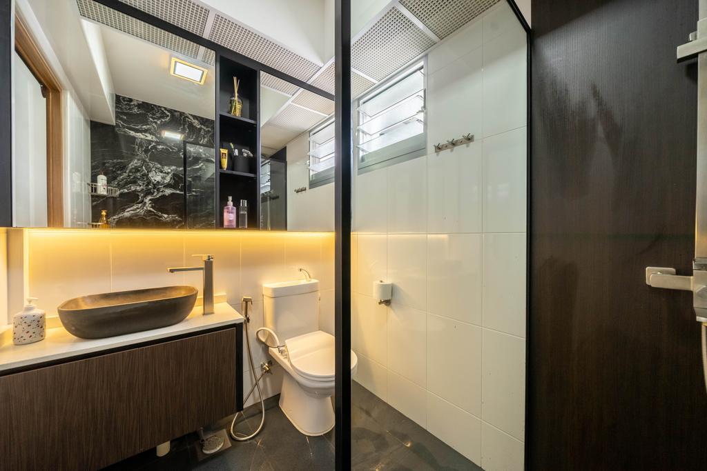 Contemporary, HDB, Bathroom, Northshore Drive, Interior Designer, Design 4 Space