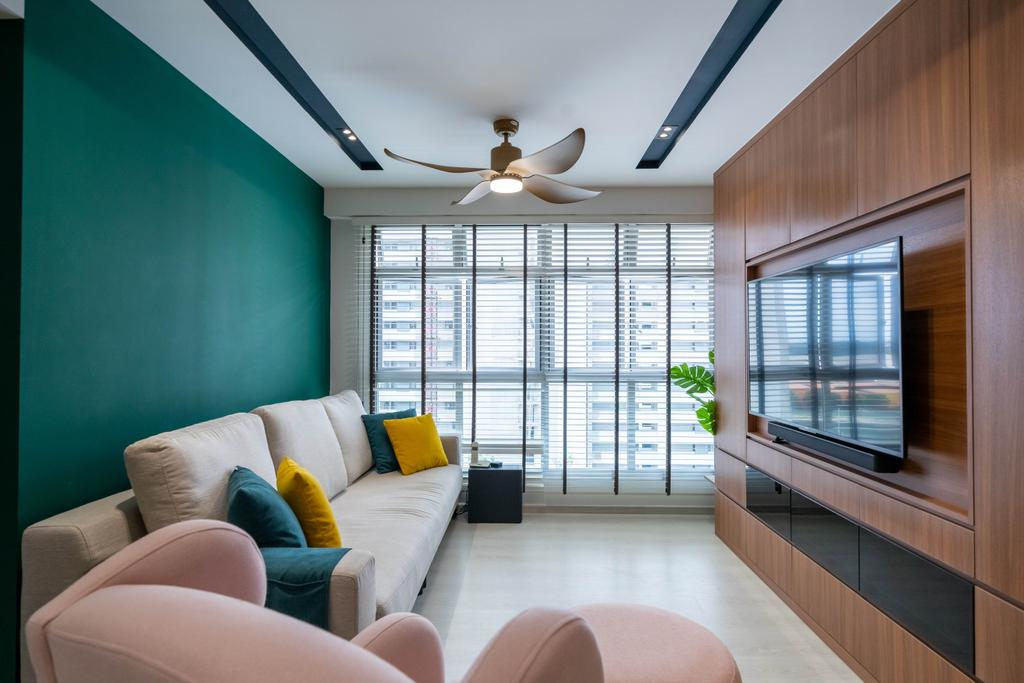 Contemporary, HDB, Living Room, Northshore Drive, Interior Designer, Design 4 Space