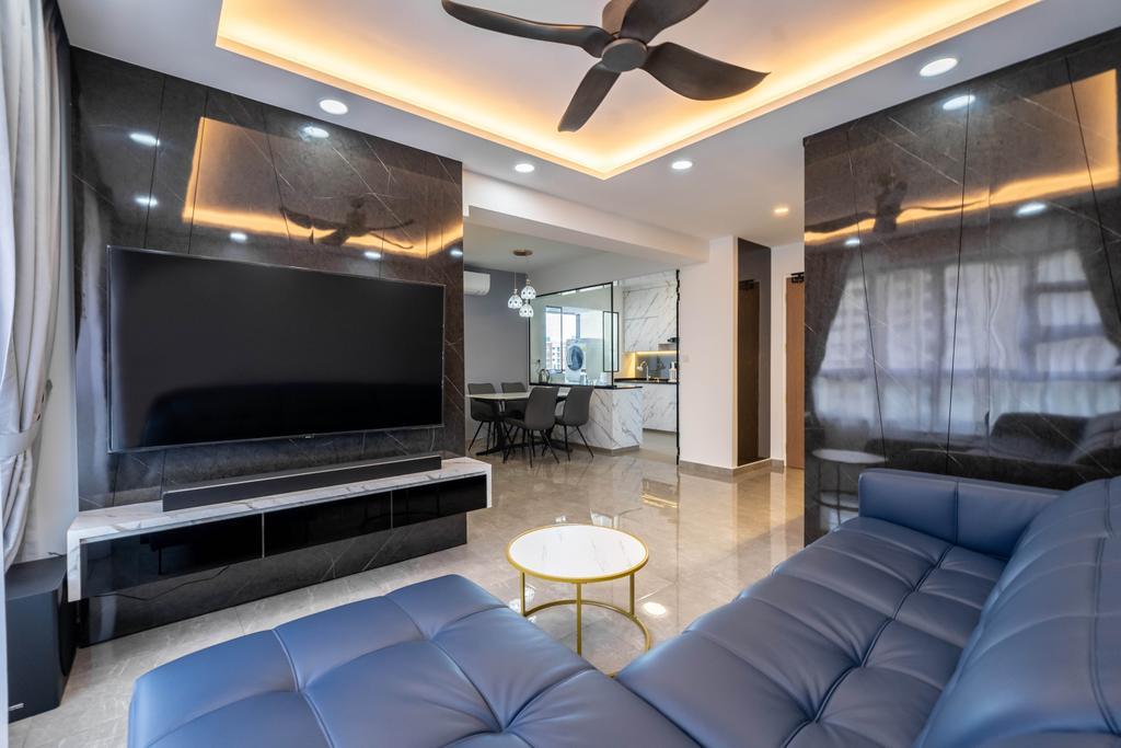 Modern, HDB, Living Room, Bukit Batok West Avenue 8, Interior Designer, Design 4 Space