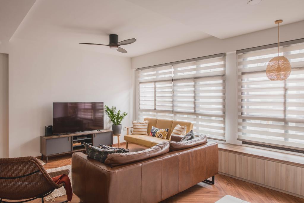 Modern, HDB, Living Room, Sengkang West Road, Interior Designer, Metier Planner, Scandinavian