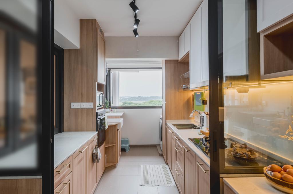 Modern, HDB, Kitchen, Sengkang West Road, Interior Designer, Metier Planner, Scandinavian