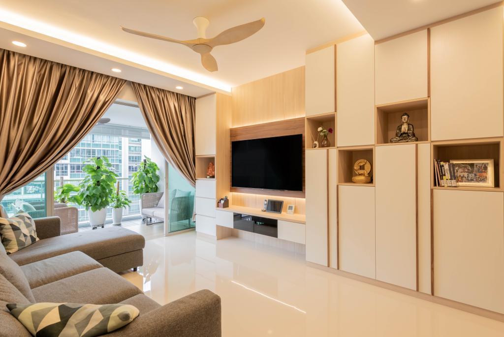 Modern, HDB, Living Room, The Minton, Interior Designer, Metier Planner, Scandinavian