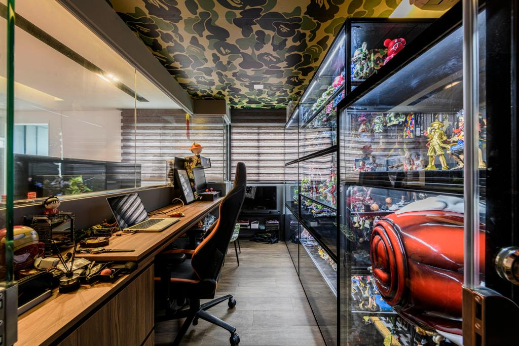 Contemporary, HDB, Study, Yishun Street 21, Interior Designer, Metier Planner