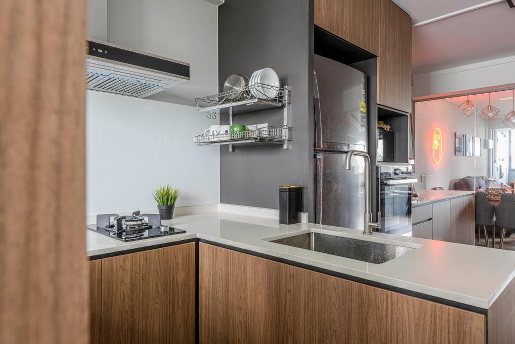 Contemporary, HDB, Kitchen, Yishun Street 21, Interior Designer, Metier Planner