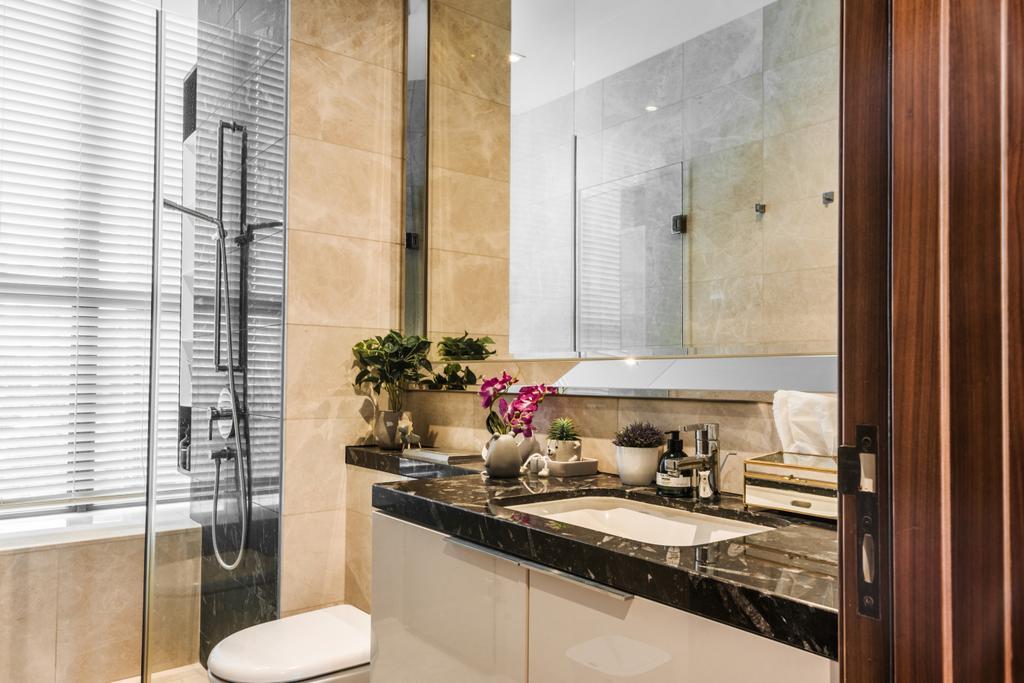 Contemporary, HDB, Bathroom, One Balmoral, Interior Designer, Earth Interior Design Pte Ltd