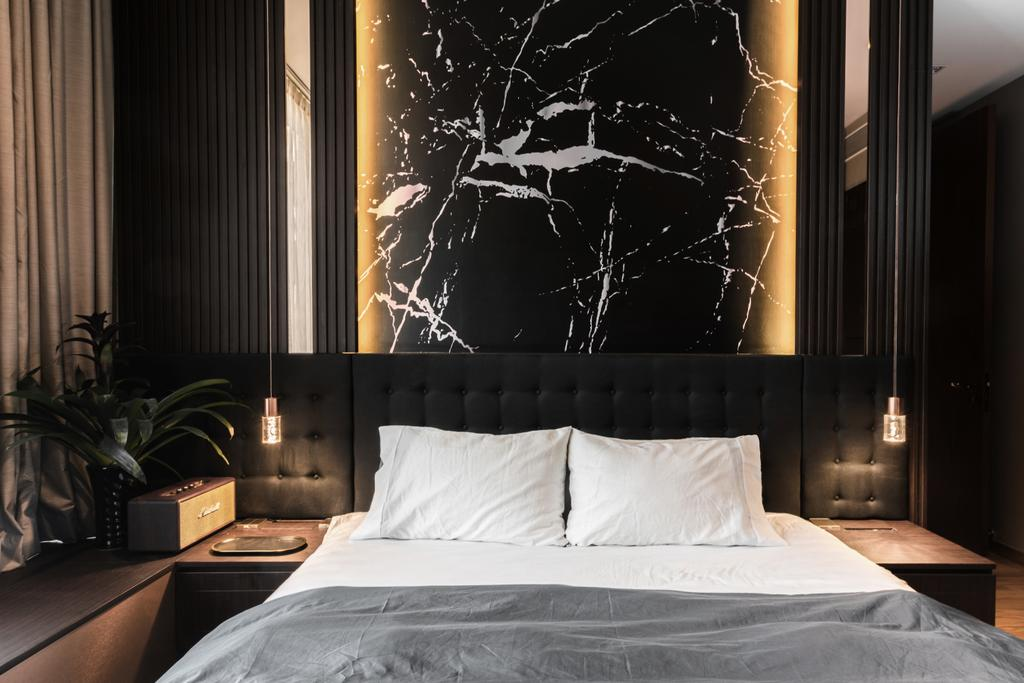 Contemporary, HDB, Bedroom, One Balmoral, Interior Designer, Earth Interior Design Pte Ltd