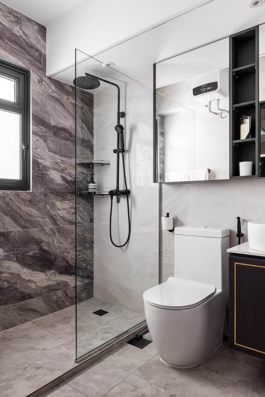 Contemporary, HDB, Bathroom, Bidadari Park Drive, Interior Designer, Jialux Interior