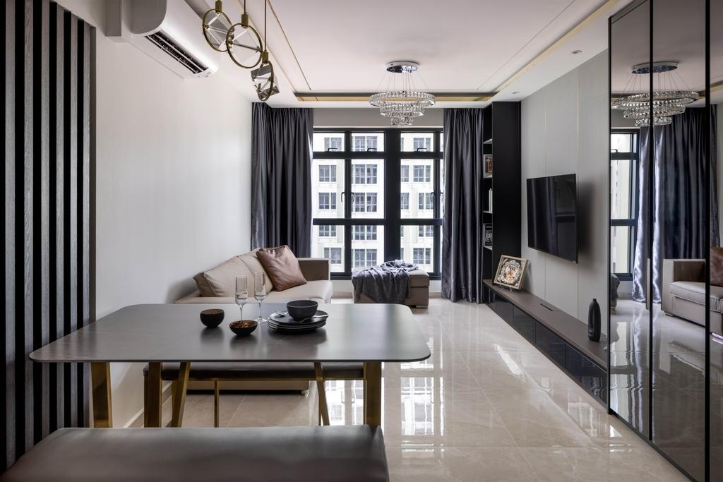 Contemporary, HDB, Living Room, Bidadari Park Drive, Interior Designer, Jialux Interior