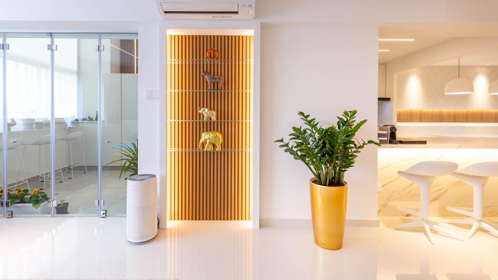 Contemporary, HDB, Living Room, Yishun Avenue 6, Interior Designer, EA Interior Design