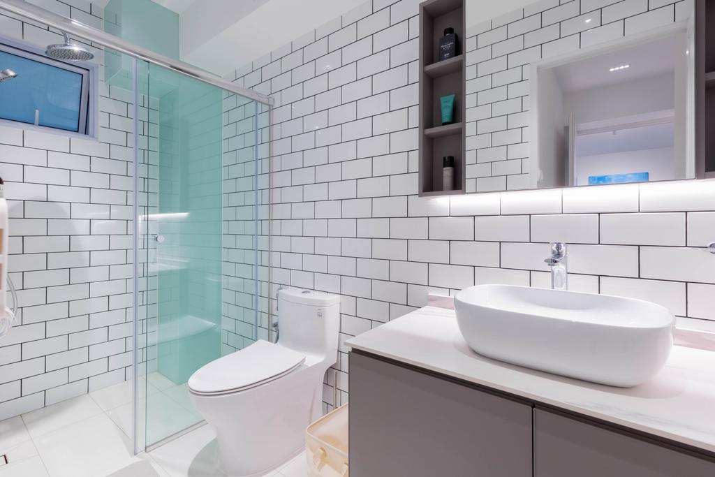 Contemporary, HDB, Bathroom, Yishun Avenue 6, Interior Designer, EA Interior Design