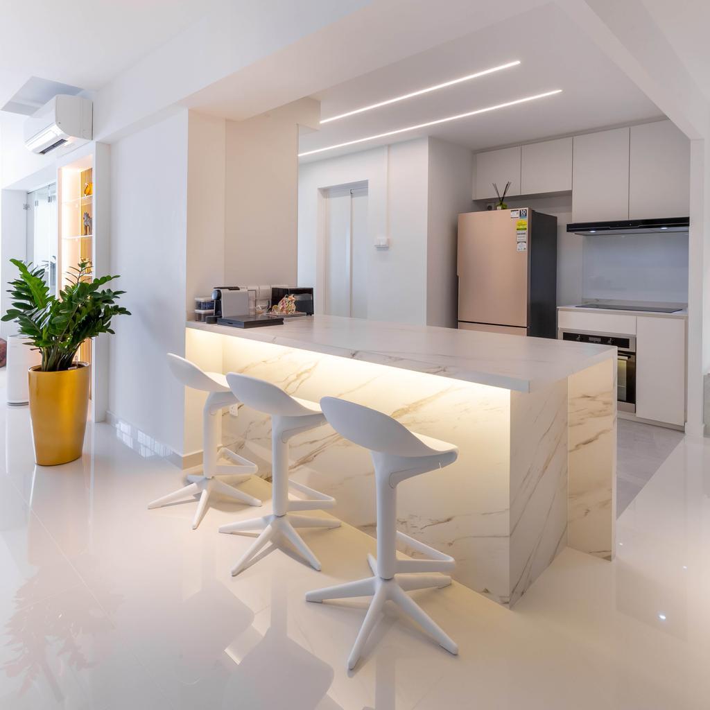 Contemporary, HDB, Kitchen, Yishun Avenue 6, Interior Designer, EA Interior Design