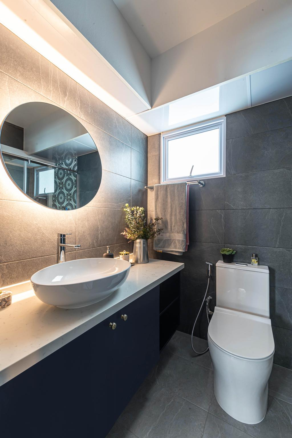 Contemporary, HDB, Bathroom, Edgefield Plains, Interior Designer, Swiss Interior Design