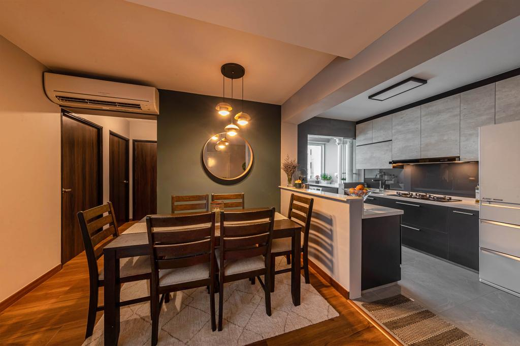 Contemporary, HDB, Dining Room, Edgefield Plains, Interior Designer, Swiss Interior Design
